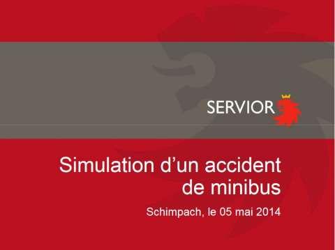Großangelegte Unfallsimulation mit Minibus — Les Services de Secours ...